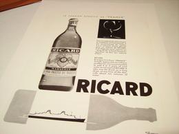 PUBLICITE AFFICHE  1 ER APERITIF DE FRANCE PAQUEBOT ET RICARD 1964-1965 - Alcools