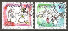 Zu 1101-1102 / Mi 1851-1852 / YT 1774-1775 DIDDL Obl. 1er Jour SBK 4,80 - Switzerland
