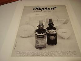 ANCIENNE PUBLICITE APERITIF ST RAPHAEL TELLEMENT FRANCE 1966 - Alcohols