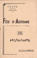 Programme De 1949 Des Prisonniers De Guerre Section Couillet Loverval - Documenten