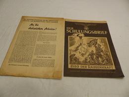 Der Schulungsbrief 1942 Journal Alsace / S234-10 / Lapt13 - 5. Zeit Der Weltkriege