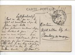 Guerre-Oorlog 14-18 CP Nice En S.M.17/3/17 V.Dr Hôpital Militaire Belge De Bourbourg En Campagne AP2043 - Weltkrieg 1914-18