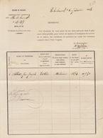 Exemption Milice 1883 Pour Allard De Virton Du 1er Lancier à Namur - Documenten