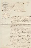 Courrier Commissariat D'arlon Virton 1856 Milice Nationale - Documenten