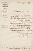 Courrier Commissariat D'arlon Virton 1856 Milice Nationale Jean Pierre Jacques - Documenten