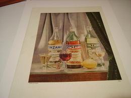 ANCIENNE PUBLICITE APERITIF CINZANO 1954 - Alcools