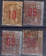 FRANCE ! Timbres Anciens SURCHARGES D'INDOCHINE De 1912 ! SURCHARGE ESPACÉE ! - Indochine (1889-1945)