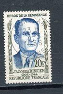 "FRANCE - JACQUES BINGEN - N° Yvert 1160 Belle Obliteration Ronde De ""LYON GARE"" De 1958 - France"