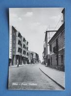 Cartolina Olbia - Corso Umberto - 1956 - Cagliari