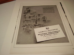 ANCIENNE PUBLICITE COMITE NATIONNAL MEUNERIE 1954 - Posters