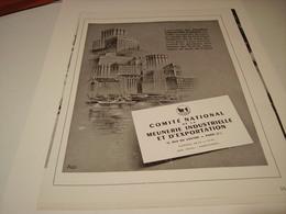 ANCIENNE PUBLICITE COMITE NATIONNAL MEUNERIE 1951 - Posters