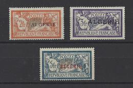 ALGERIE . YT  31-32-33  Neuf *  Timbres De France Surchargés  1924 - Algerije (1924-1962)