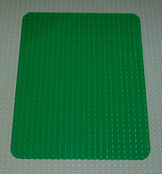 Lego Vintage Plaque De Base Coin Arrondis 24x32 Verte Ref 10b - Lego Technic