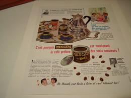 ANCIENNE PUBLICITE CAFE NESCAFE 1959 - Posters