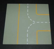 Lego Plaque Baseplate 32x32 Route Grise Croisement Ref 608p03 - Lego Technic
