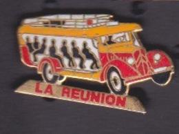 PIN'S - ILE DE LA REUNION  - CAR COURANT D'AIR BUS DE LA REUNION - Autres