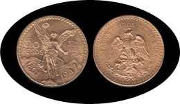 Mexico Mejico 50 Pesos Mejicanos 1947 37,5 Gramos De Oro Puro Au - Monedas