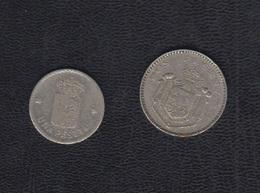 FICHAS DE CASINOS.  1 Y 2 PTAS.  REF  AF - Spain