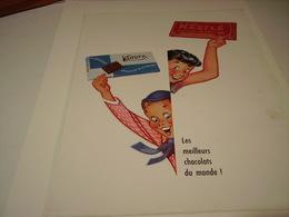 ANCIENNE PUBLICITE CHOCOLAT KOHLER ET NESTLE  1954 - Posters