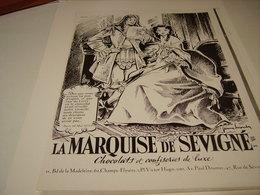 ANCIENNE PUBLICITE CONFISERIE  MARQUISE DE SEVIGNE 1955 - Posters