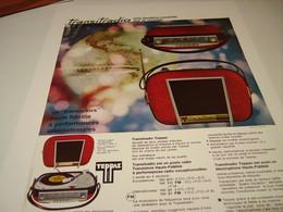 ANCIENNE PUBLICITE TEPPAZ TOURNE DISQUE 1964 - Music & Instruments