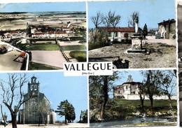 31 VALLEGUE  -  MULTIVUES  -    CPM 1950/60 - Andere Gemeenten