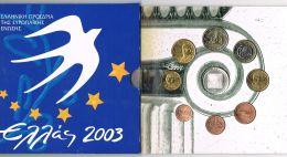 Monedas Euros Grecia Cartera 2003 - Monnaies