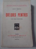 Léon WERTH : Quelques Peintres Avec Douze Phototypies ,1923, Dédicacé Par L'auteur ,214 Pages - Autographed