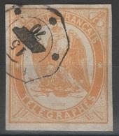 France - Télégraphes - YT 3 Oblitéré 1870 - Telegraaf-en Telefoonzegels