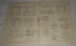 Plan Du Chemin De Fer Métropolitain De Paris.Du Cours De Vincennes à La Place D'Italie. 1910. - Public Works