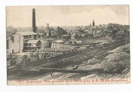 Lessines Vue Générale Avec Usine Carte Postale Ancienne Carrière Wagons Rails - Lessen
