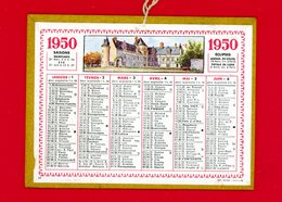 Calendrier Cartonné Année 1950 Petit Format 14,5 Cm X 11 Cm, Bon état, Voir Scans - Calendari