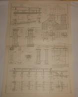 Plan Du Chemin De Fer Métropolitain De Paris.Du Cours De Vincennes à La Place D'Italie. 1910. - Travaux Publics