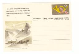 Facteur Poste PTT Messager Suisse Entier Postal 1949 Poste Par Traineau Centenaire Postes Fédérales - Post