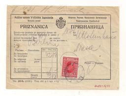 Priznanica - Mit Aufgeklenter Briefmarke - 1931 - Used Stamps