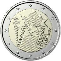 Eslovenia 2 Euros Conmemorativos 2014 600° Av. Coronación De Barbara Celjska - Sin Clasificación
