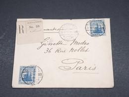 EGYPTE - Enveloppe En Recommandé D 'Alexandrie Pour Paris En 1917 - L 18446 - 1915-1921 Protectorat Britannique