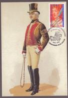 Facteur Poste PTT Messager Postillon Maison Imperiale Napoleon III Transporté Par Malle Poste Cachet Relais - Postal Services