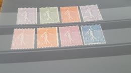 LOT 401047 TIMBRE DE FRANCE NEUF** N°197 A 205  SAUF 203 VALEUR 101 EUROS - France