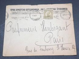 YOUGOSLAVIE - Enveloppe Commerciale De Belgrade Pour Paris En 1921 - L 18454 - 1919-1929 Royaume Des Serbes, Croates & Slovènes
