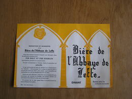 Publicité BIERE ABBAYE DE LEFFE Dinant Café Brasserie Restaurant BAVAROIS Montigny Le Tilleul Pub Originale - Publicités