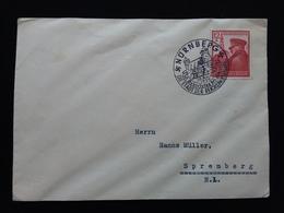 GERMANIA III REICH 1939 - Francobollo Hitler Su Busta Con Annullo Speciale + Spese Postali - Germania
