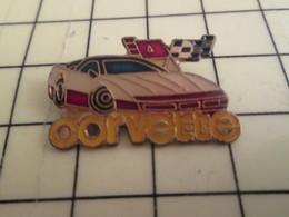 Pin911c Pin's Pins / Beau Et Rare : Thème AUTOMOBILE / CORVETTE BLANCHE - Corvette