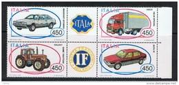 REPUBBLICA:  1984  AUTO   ITALIANE  -  S. CPL. 4  VAL. N. -  SASS. 1666/69 - Blocchi & Foglietti