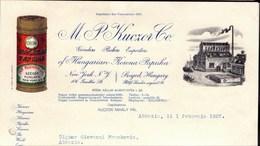 HUNGARU - HUNGARIAN PAPRIKA - M.P. KUCZOR - SZEGED - 1927 - Company Logo Napkins