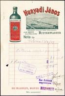 HUNGARU - HUNYADI  JANOS  BITTERWASSER - BUDAPEST - 1909 - Reclameservetten