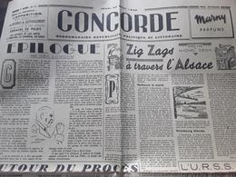 Journal CONCORDE Hebdomadaire Republicain Politique Et Littéraire 23 Aout 1945 Procès PETAIN ,Postdam,philatelie 6 Pages - Giornali
