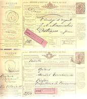 2 Bulletins D'expédition 1,75 Lire De MILANO Et TORINO V/Grèce Et Corfou En 1891-189 - Colis-postaux