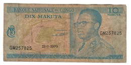 Congo 10 Makuta 21/01/1970 - Zaire