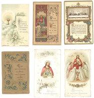 Lot 6 Images Pieuses, Pensionnat Saint Thomas De Villeneuve, Aix, De 1891 à 1902 - Images Religieuses